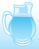 Pitcher with clean drinking water