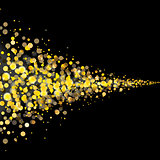 vector gold glittering stars tail dust
