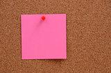 Blank notes pinned into corkboard
