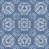 The lace pattern on blue background