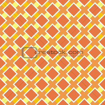 Tile vector orange pattern