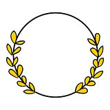 Laurel wreath vector photo frame isolated on white background