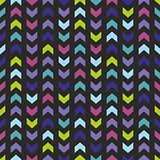 Chevron tile vector dark colorful pattern