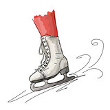 Skates cartoon sketchfor your design