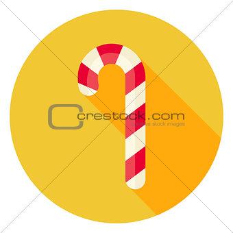 Flat Design Candy Stick Circle Icon