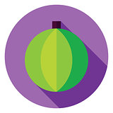 Flat Design Decorative Christmas Ball Circle Icon