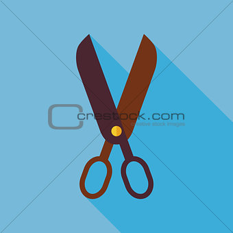 Flat Tool Scissors with long Shadow