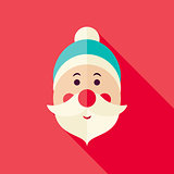 Vector Flat Design Santa Claus Icon