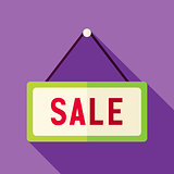 Vector Flat Design Shopping Sale Sign Icon