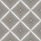 Black and White Geometric Vector Shimmering Optical Illusion