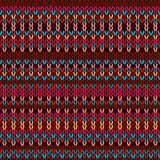 Seamless Ethnic Geometric Knitted Pattern