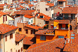 City rooftops in Florence, Italy