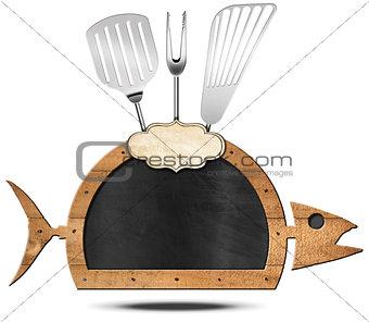 Blackboard Fish Shaped - Fish Menu