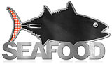 Blackboard Fish Shaped - Seafood Menu