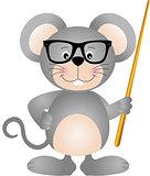 Cute mouse teacher