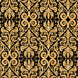 floral golden wallpaper