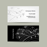 Abstract business card, field sketch