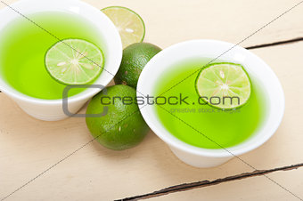 green lime lemonade