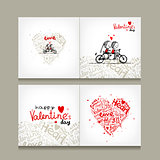Greeting card design, valentine day