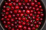 Top view of red cherry