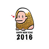 Happy New Year 2016 Monkey