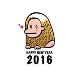 Happy New Year 2016 Monkey
