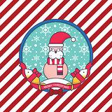 Sea Lion Christmas Greeting card