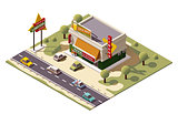Vector isometric liquor store