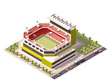 Vector isometric stadium