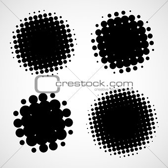 Abstract Halftone Backgrounds. Vector Set
