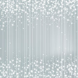 Bright Silver Background with Stars. Festive Design. New Year