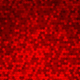 Abstract Seamless Red Halftone Comb Dots