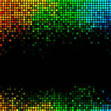 Multicolor abstract lights disco background. Square pixel