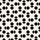 Vector Seamless Black And White Triangle Square Geometric Pattern