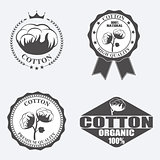 Cotton labels, stickers and emblems