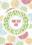 Design for flyer or card