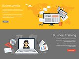 design for website of business news, training