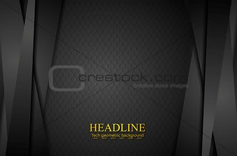 Corporate black abstract background with stripes