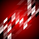 Red hi-tech abstract design