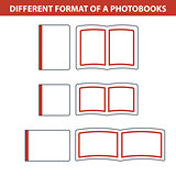 Icons of formats photobook