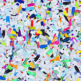 Plastic bottles garbage - background