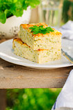 Zucchini Rice Slice with Cheese