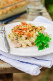 Tuna, Leek, Mornay and Orange Pasta Bake (Macaroni and Cheese)