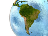 South America on Earth