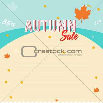 autumn sales business poster
