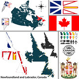Map of Newfoundland and Labrador, Canada