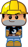 Cute Cartoon Construction Worker