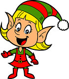 Girl Christmas Elf