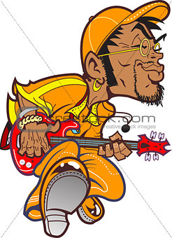 Grooving Bass Player