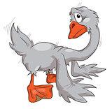 a sad goose